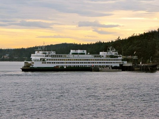 Ferry Docking At Lopez Island