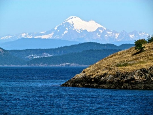 Mt Baker From Watmough Bay
