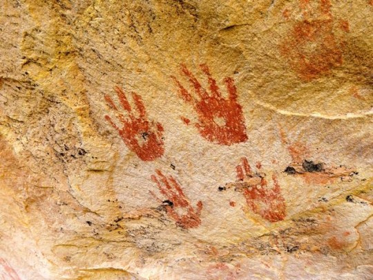 Handprints From Long Ago