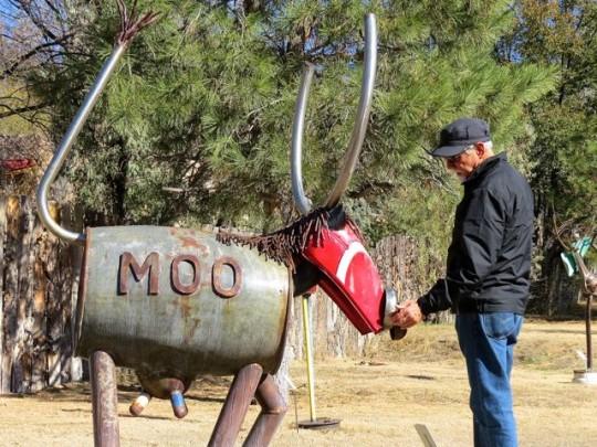 Moo At Shidoni Sculpture Garden