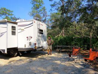 Spacious campsite at Ochlockonee River State Park
