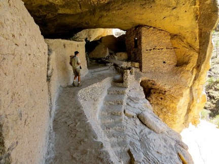 In the cliff dwellings