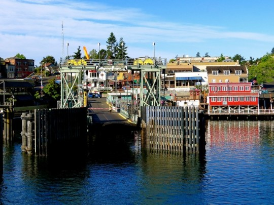 Bustling Friday Harbor On San Juan Island