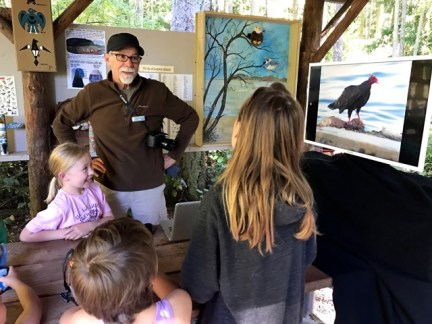 Sharing the love of birds with Junior Rangers