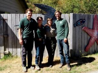 Drew, Meghan, Ranger Tina, and Luke