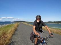 Waterfront biking on Lopez