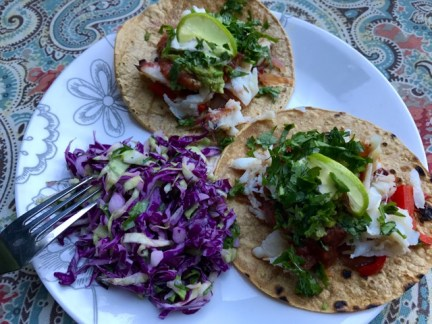 Crab tacos -- oh yum!