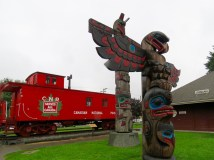 Totems in Duncan, Vancouver Island, BC