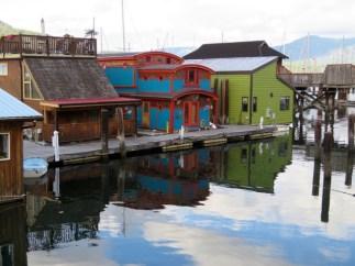 Houseboats in Cowichan Bay