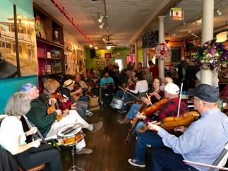 Weekly Cajun music jam at Joie de Vivre, Breaux Bridge