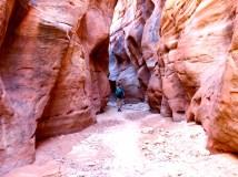Hiking Buckskin Gulch, Paria Wilderness, Utah