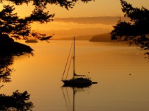 Sunrise at Spencer Spit, Lopez Island, Washington