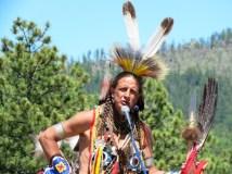 A Lakota dancer at the Crazy Horse Memorial