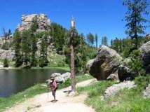 An easy trail circles Sylvan Lake