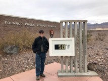 December in Death Valley at noon