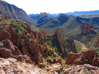 Panoramic viewpoint and turnaround point