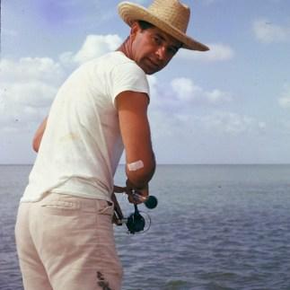 My dad fishing