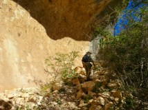 It's a rocky trail for much of the White Shaman hike