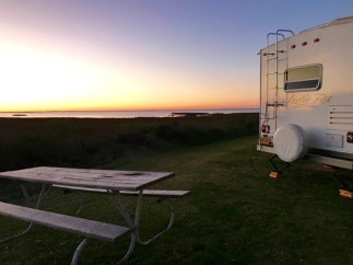 Galveston Island State Park campground