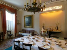 Dining room in the Owens Thomas home