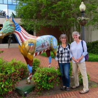 Wandering downtown Aiken with Julie