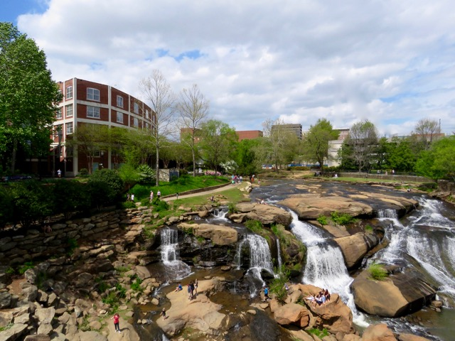 Reedy Falls in downtown Greenville