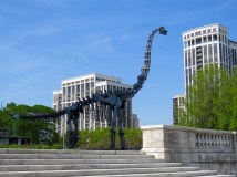 Brachiosaurus sculpture at the Field Museum