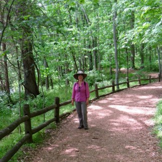 On the trails at Radner State Park