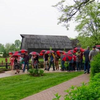 Maker's Mark tour on a rainy day