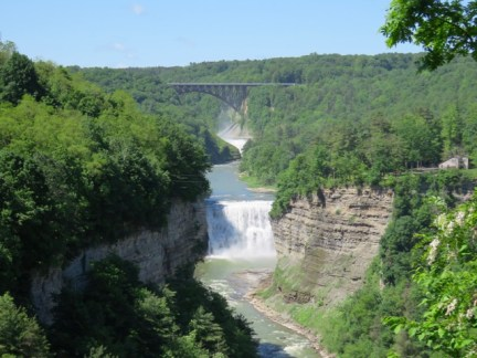The Genesee River & Middle Falls from Inspiration Point