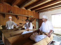 Bakers prepare fresh bread daily