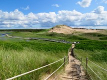 The beautiful dunes to beach trail