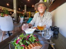 Grilled salmon at Terre Rouge