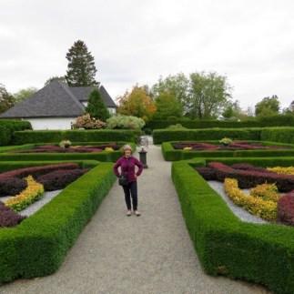 In the formal garden