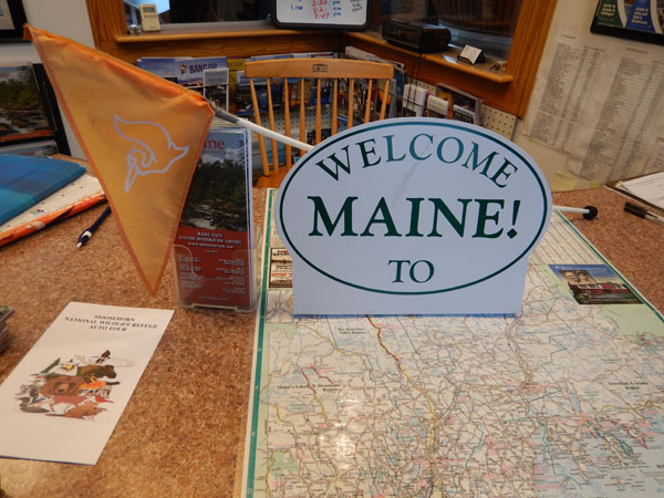 With winter nipping at our heels, we rolled across the border into Maine.