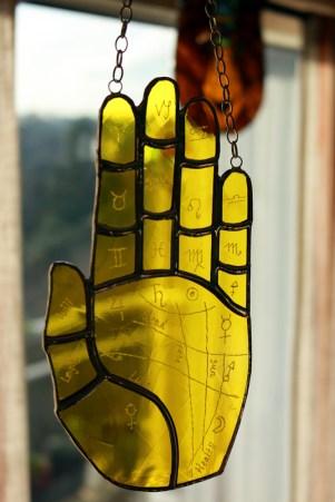 (Sold: California, USA) Palmistry Yellow Artique