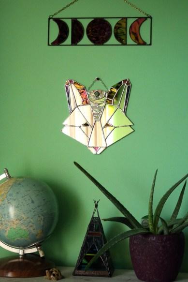 (Sold: Connecticut, USA) Geometric Boho Fox Mirror