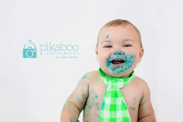 Cake smash baby blue