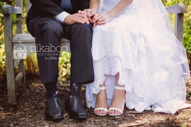 Wedding photo feet