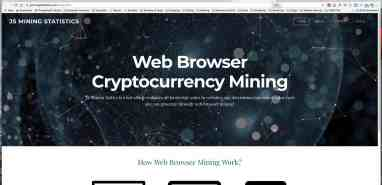 Website that has been sending out analytics spam advertising cryptocurrency mining to web developers.