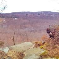 Wintertime at the Raven Rocks overlook.