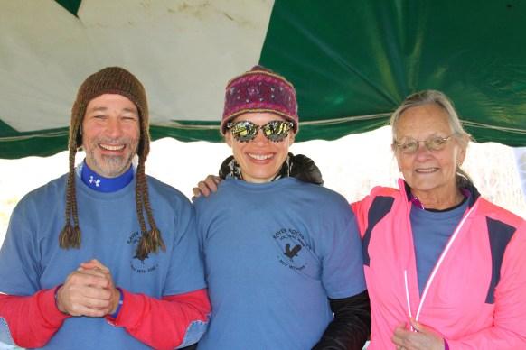 Volunteers Alan Wegener, Jill Mango, Judy Godino. Photo: Carol Gordon