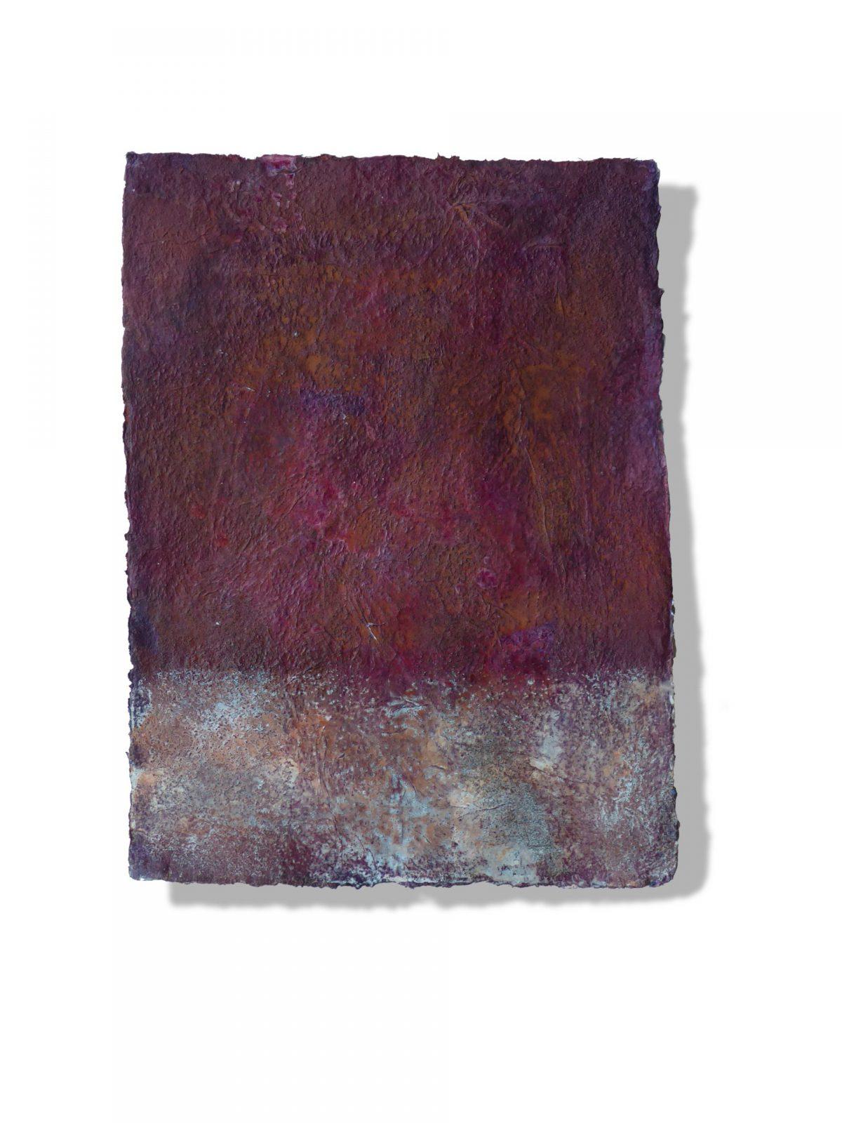 Hanne Unger-Heilmann: o.T. (2018) Papier, Gestein, Pigmente auf Papier