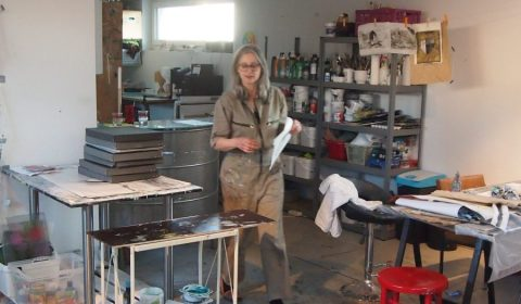Alexandra Gebhart: Vorbereitungen im Atelier