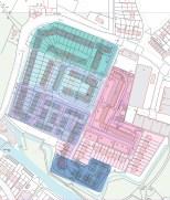 draft masterplan and existing layout of Ravensbury Village