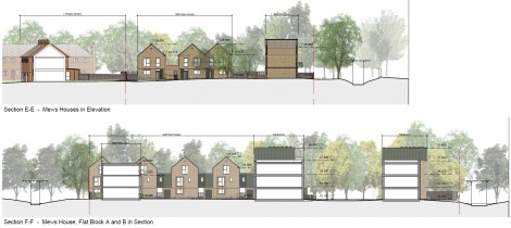 Ravensbury Garages - proposed sections A