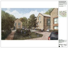 Ravensbury Garages - artists impression