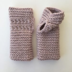 Crocheted Fingerless Mittens