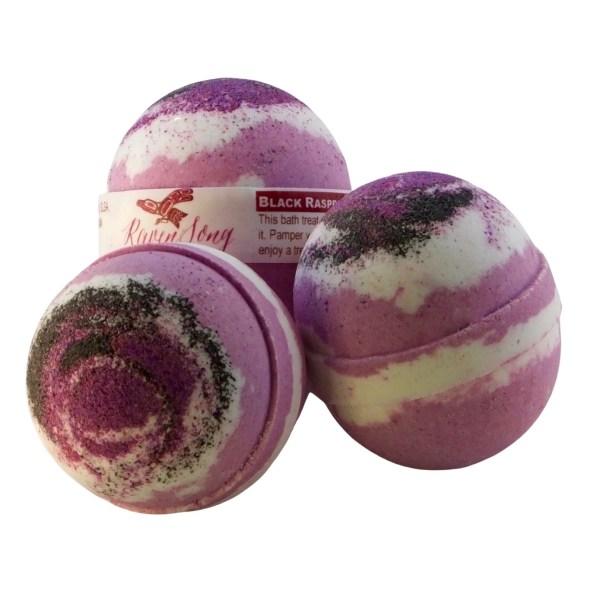 Black Raspberry & Vanilla Bath Bomb