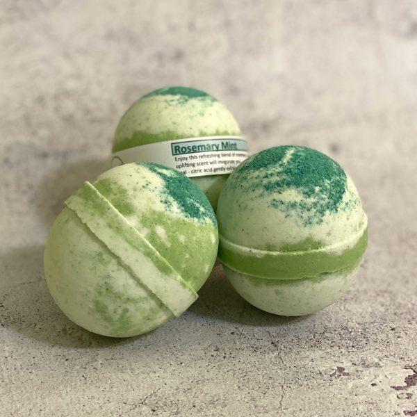 Rosemary Mint Bath Bombs
